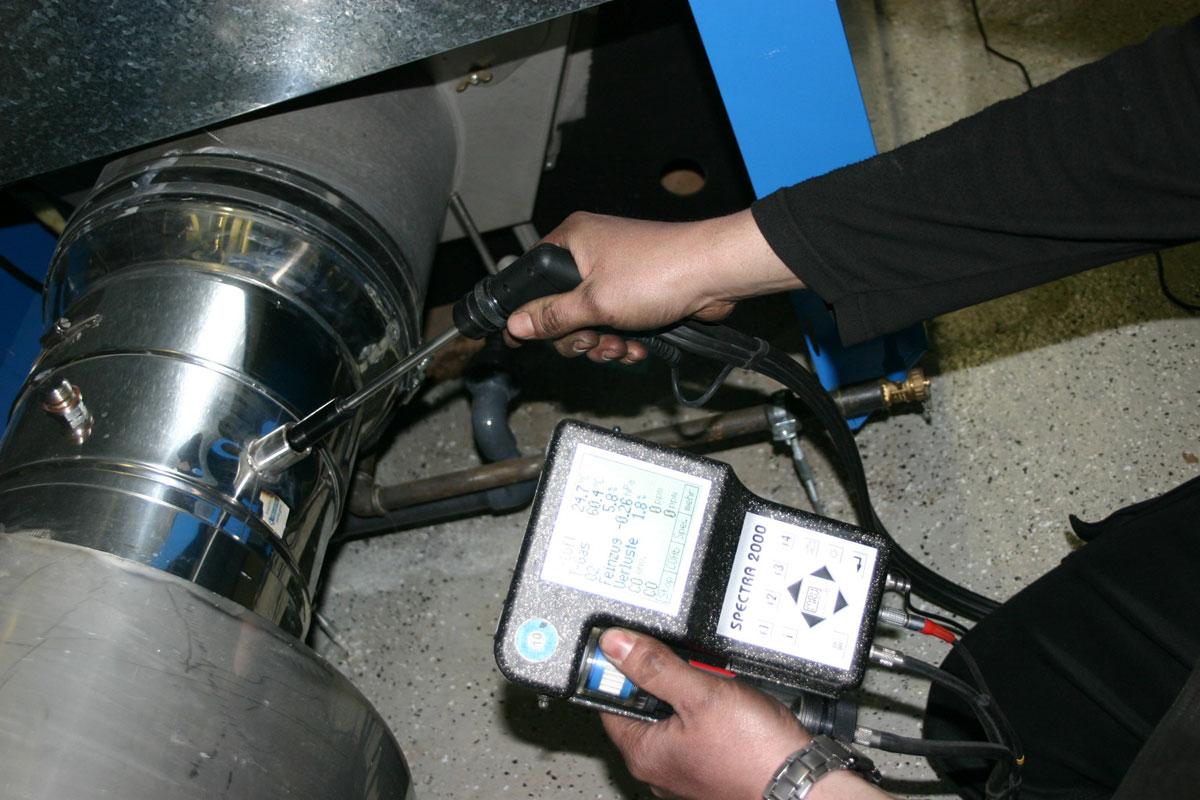 Messtätigkeiten an Öl- und Gasfeuerungsanlagen