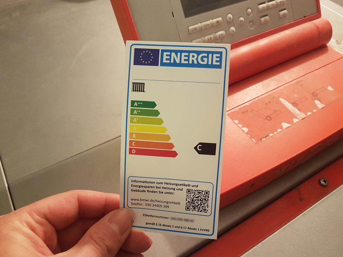 Informationen des Bundesministeriums für Wirtschaft und Energie zum Heizungslabel.