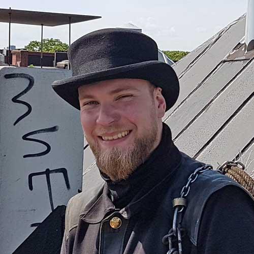 Dean Dressler vom Schornsteinfegerbetrieb Hamburger Schornsteinfeger