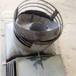 Schadhafte Luft- Abgaskalotte