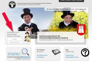 Bezirksschornsteinfeger Suche