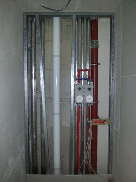 Konzentrische Abgasleitung ohne Brandschutz